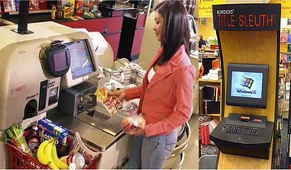 Self-service kiosks are beneficial to business owners.