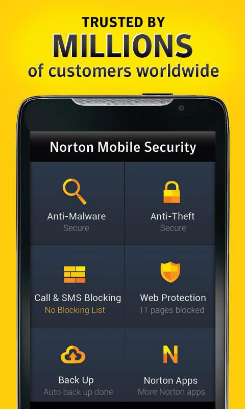 5) Norton Mobile Security App