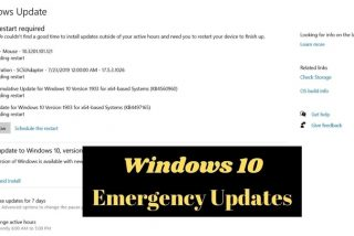 Windows 10 Emergency Updates Reinforce Data Protection